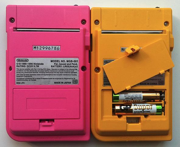 Game Boy pockets Piles