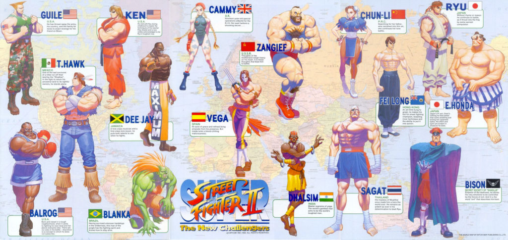 Carte des personnages Super Street Fighter 2 Club Retrogaming