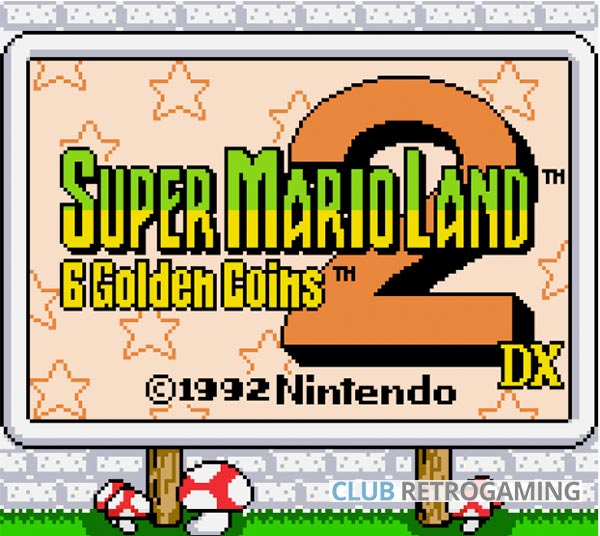Menu Super Mario Land 2 DX